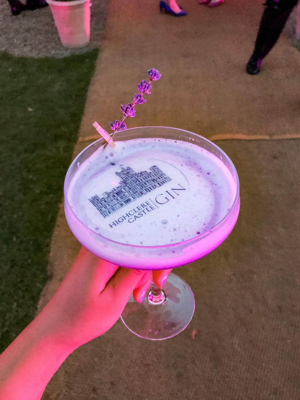 HIGHCLERE CASTLE - A cocktail served at castle on the weekend of the Highclere Castle Gin launch