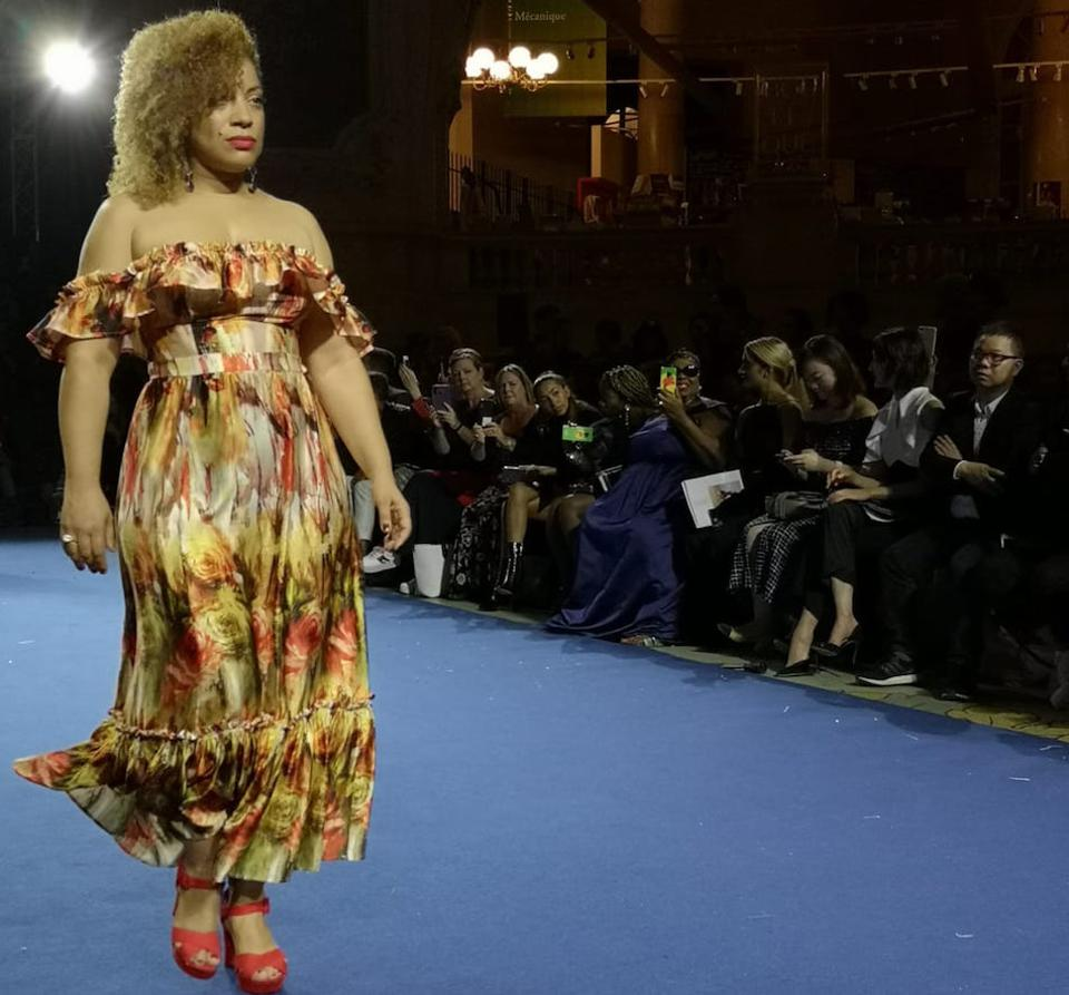 Two looks shown at Paris Fashion Week, from Devotion Designs, a new brand for curvy women