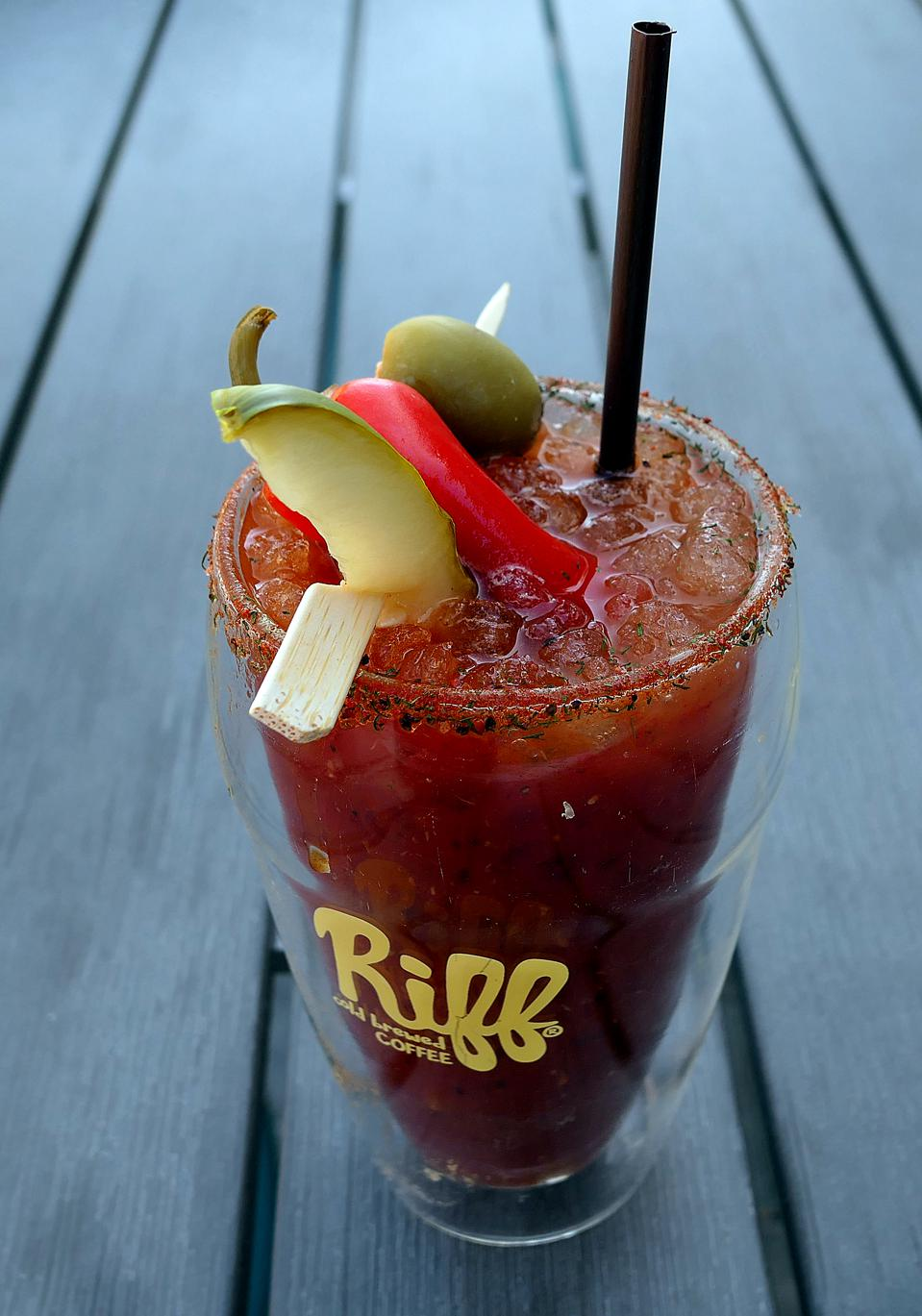 Cold brew coffee Bloody Mary at Riff's