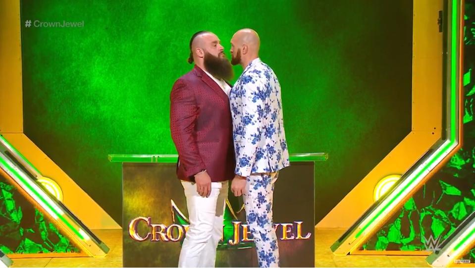 WWE Crown Jewel 2019 Tyson Fury Braun Strowman Face to Face Saudi Arabia