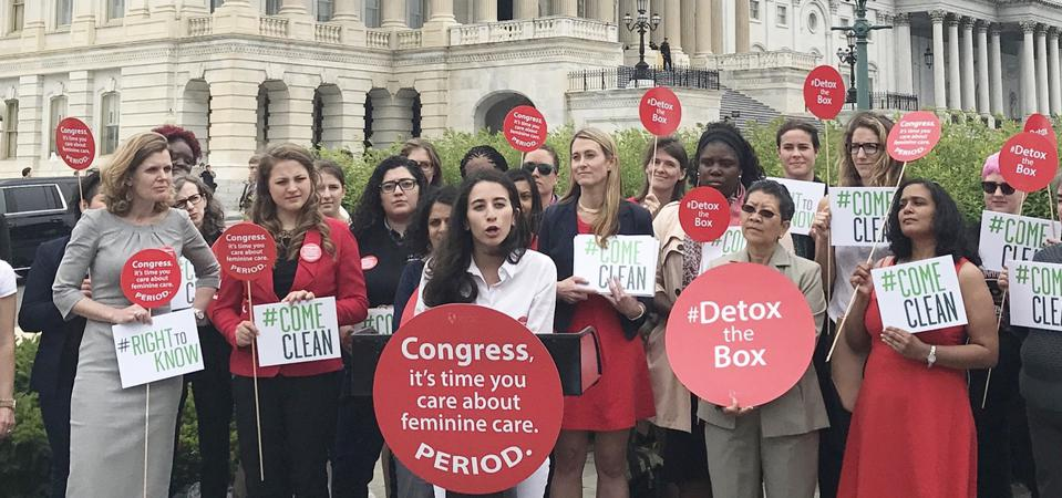 Menstrual Equity Movement. Protests in Washington D.C.