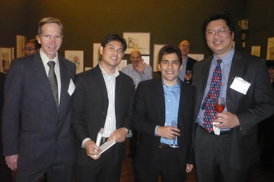 Ken Kam (right), me and a few Warren Buffetts Next Door at Forbes in 2010.