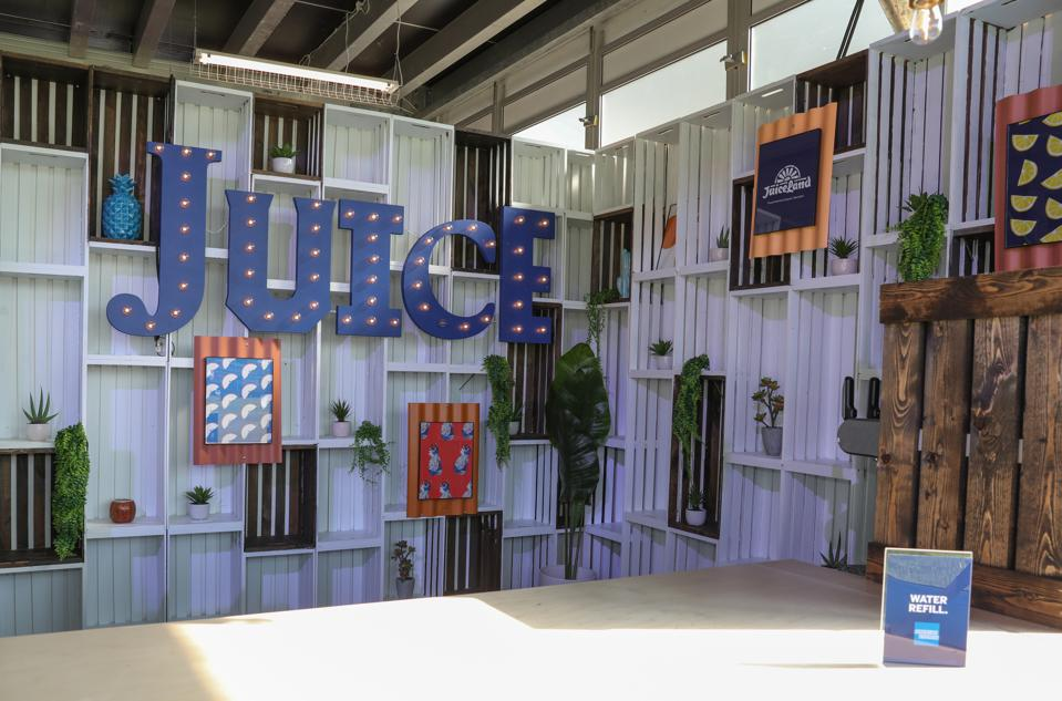 Austin-based JuiceLand juice bar in the American Express Experience at Austin City Limits music festival 2019.