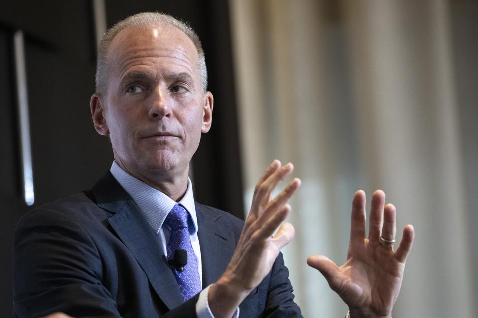Boeing CEO Dennis Muilenburg Speaks At Economic Club Of New York
