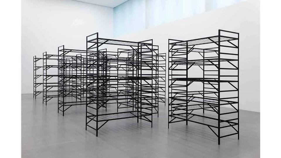 Mona Hatoum 'Quarters' (2017) Installation view at Museum der bildenden Künste Leipzig