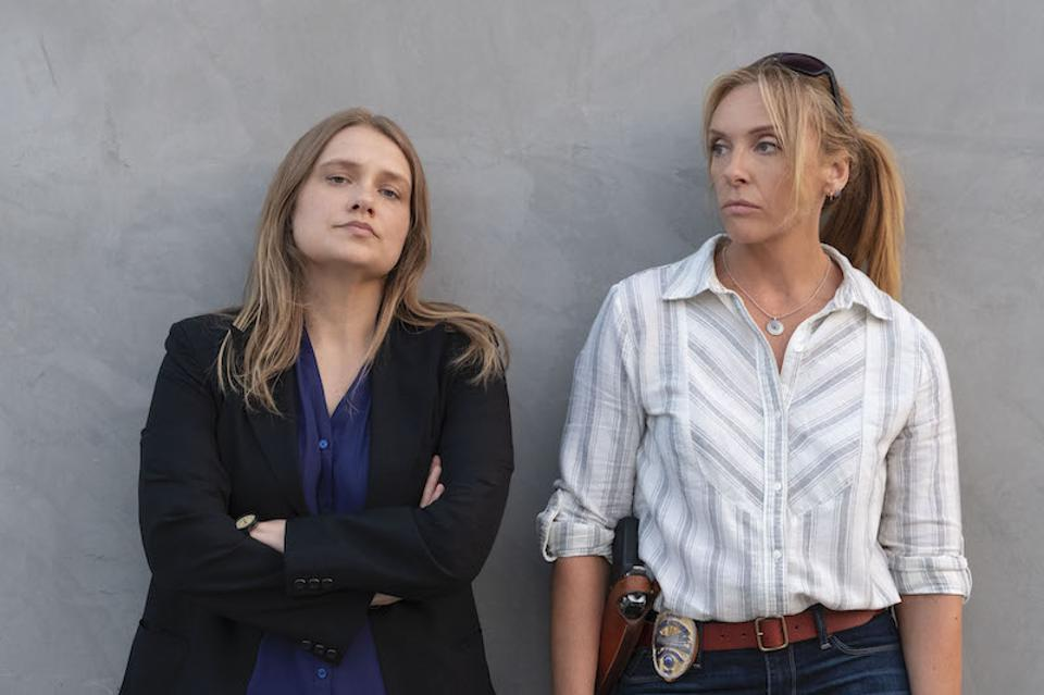 Merritt Wever and Toni Collette play real-life Colorado detectives Stacy Galbraith and Edna Hendershot.