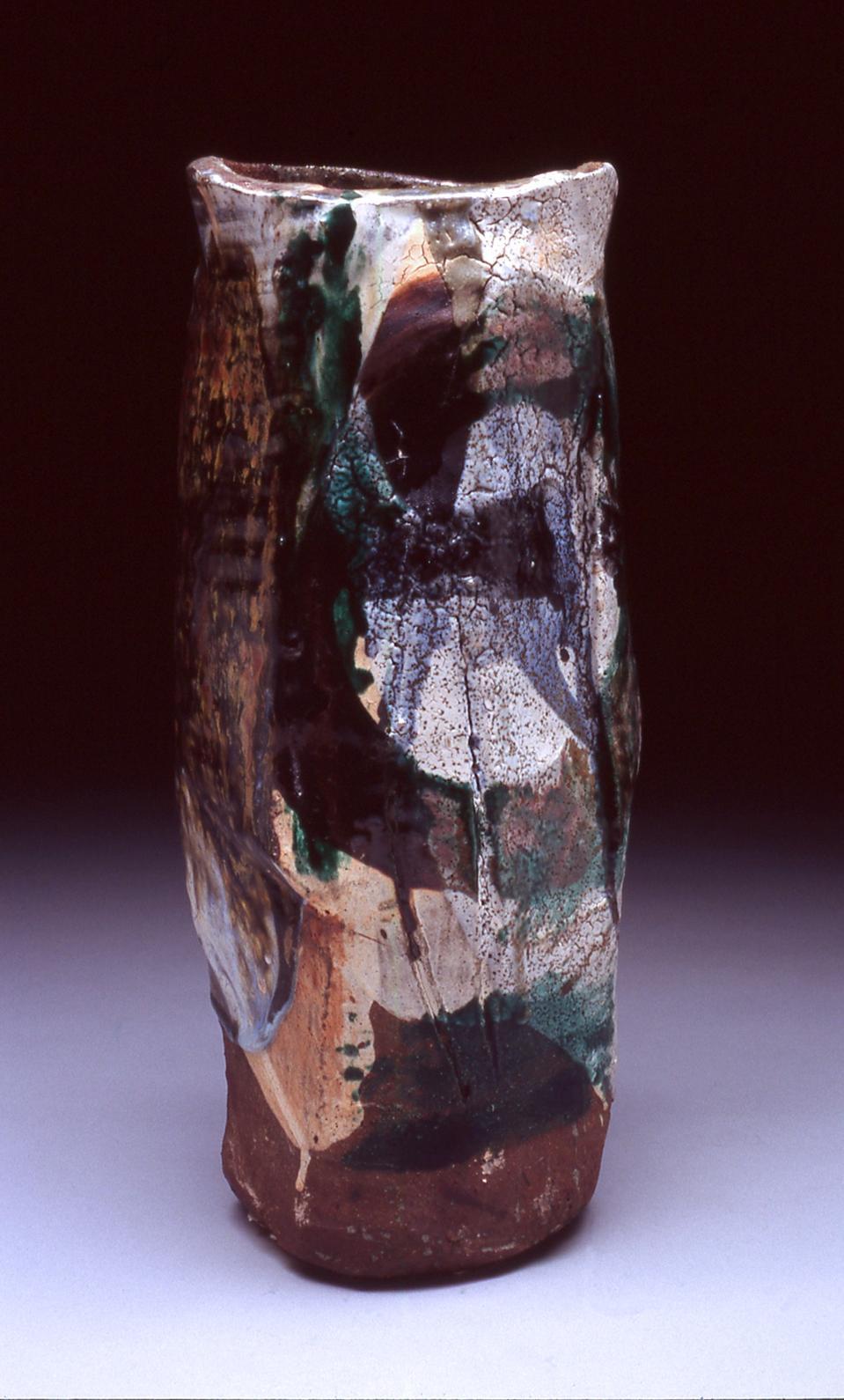 Peter Voulkos (1924-2002), vase. Stoneware, glaze, 1959, Missoula Art Museum Collection, donated by Maxine M. Blackmer, 2003.03.17.