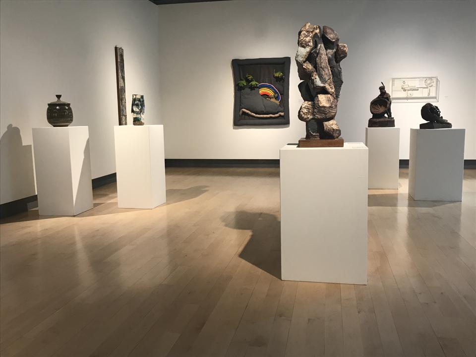 Installation view of 'From the Ground Up: The Postwar Craft Movement in Montana,' at Missoula Art Museum.
