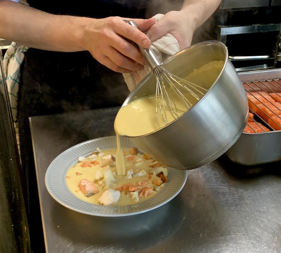Fish soup in Stavanger, Norway