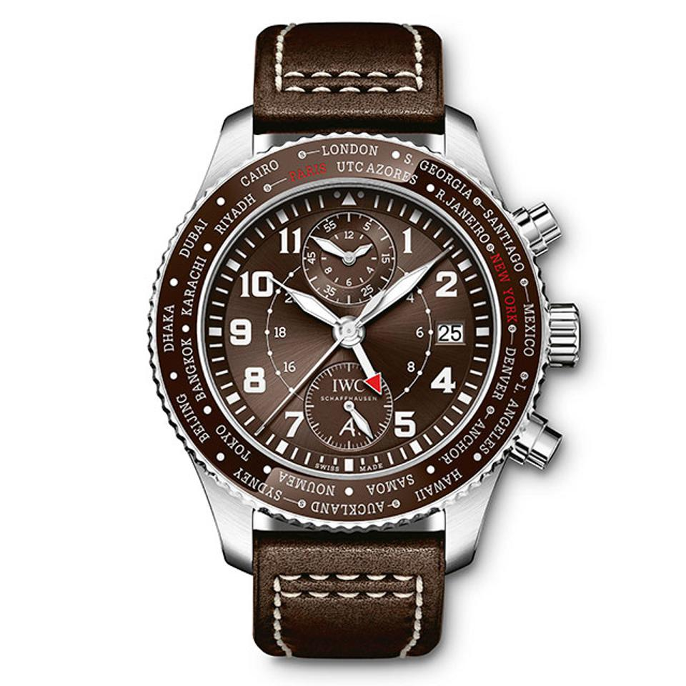 "IWC Pilot's Watch Timezoner Chronograph Edition ""80 Years Flight to New York."""