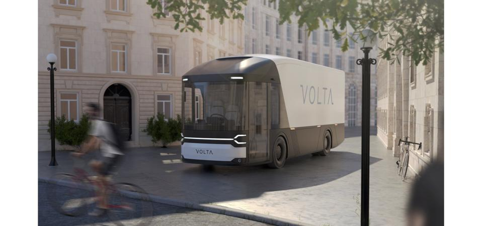 Volta hopes its prototype electric delivery vehicle, designed for city centres, will be ready next summer.