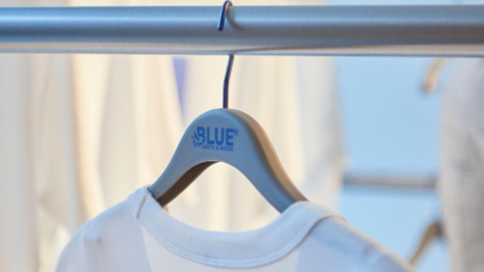Arch & Hook debuted their 'Blue' hanger at London Fashion Week