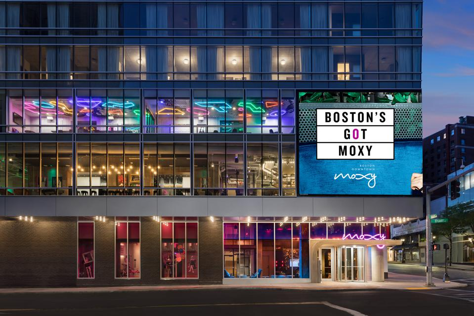The recently-opened Moxy Boston Downtown.