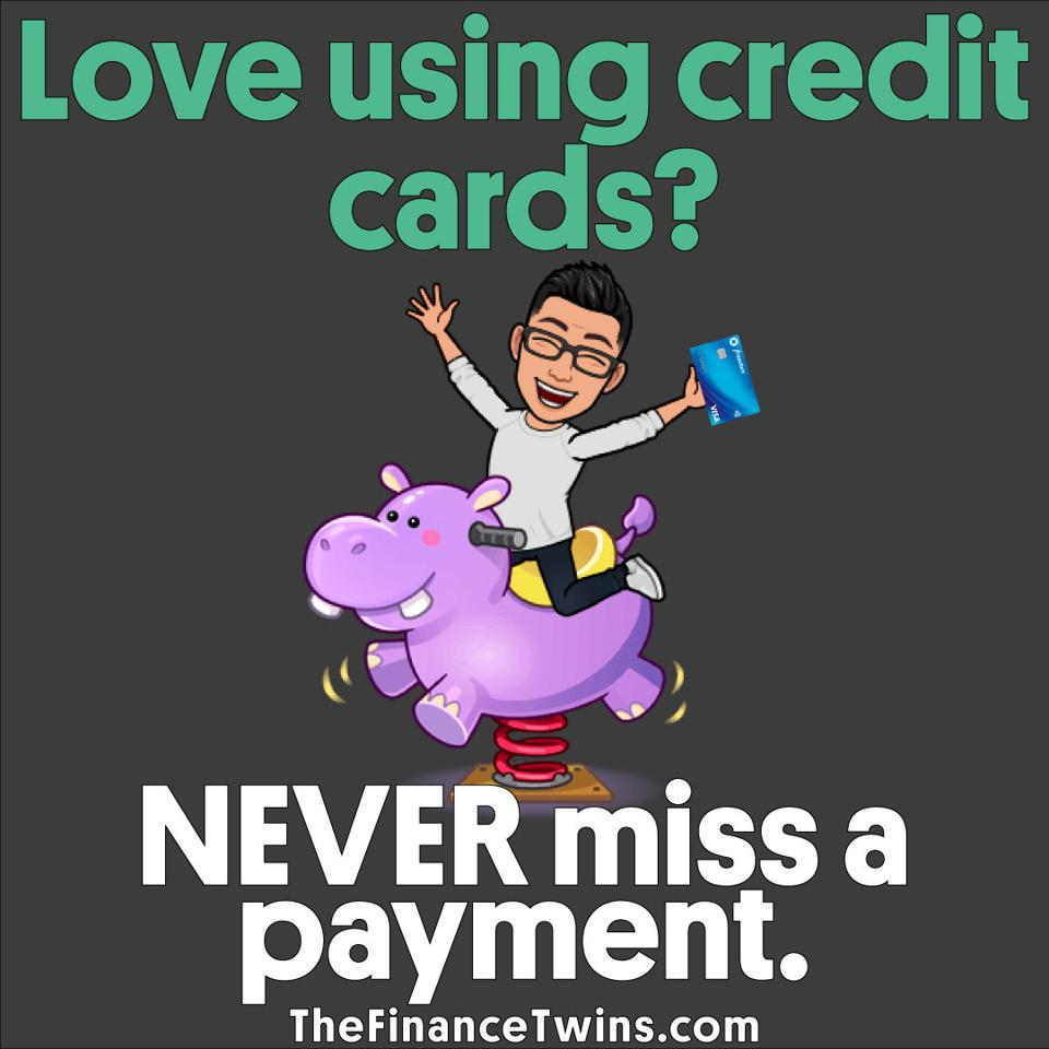 Missing a credit payment will result in late fees and interest payments.