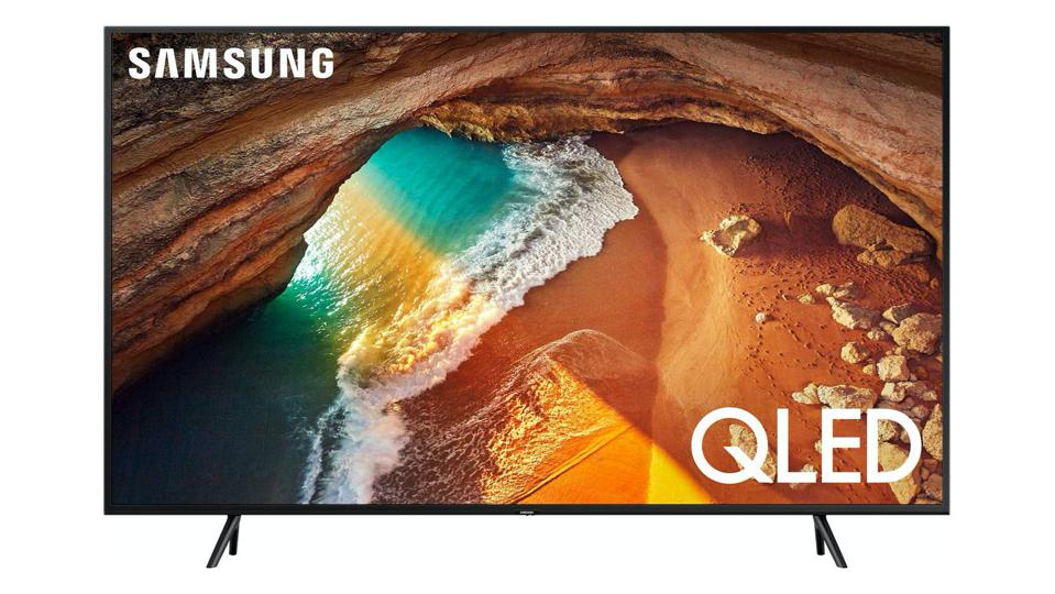 Samsung Q60 TV on a white background.