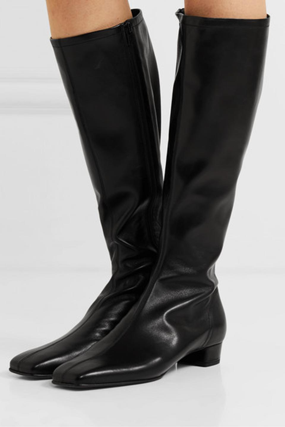 By Far Edie leather knee boots