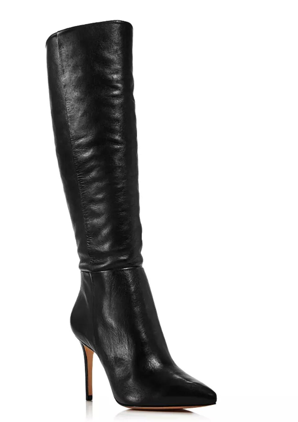 Schutz Women's Magalli Pointed Toe Tall Leather Boots