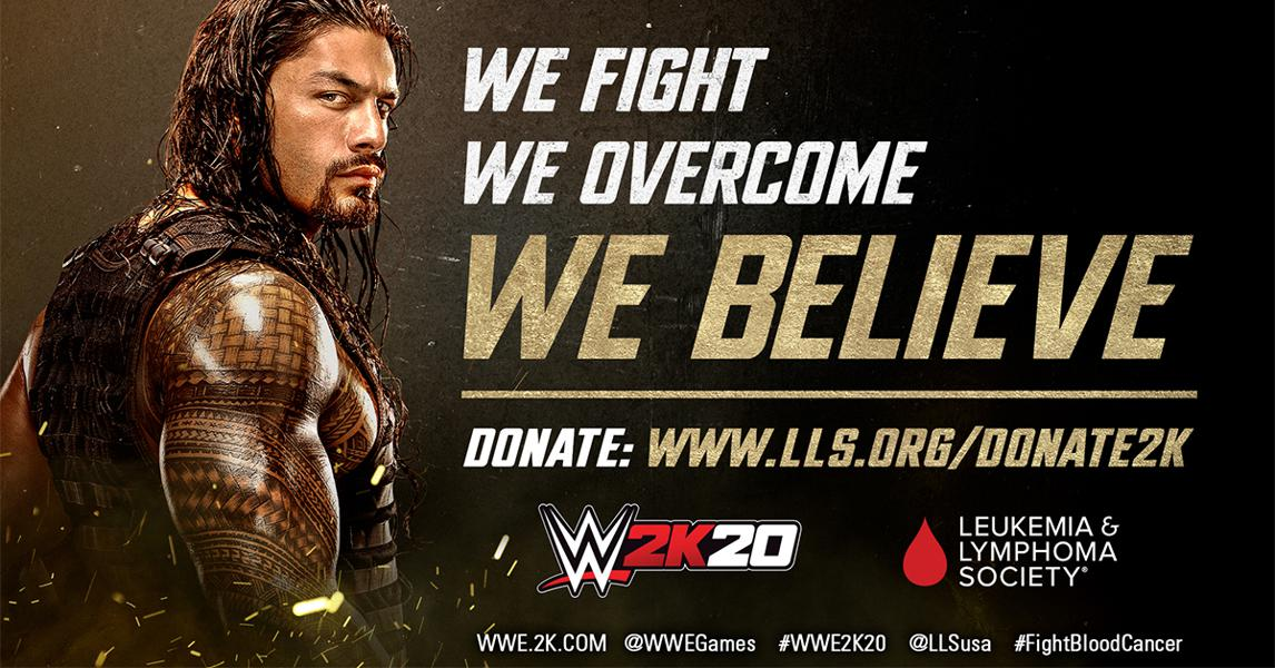 WWE, 2K And LLS Partner To Combat Blood Cancers And To Provide Hope