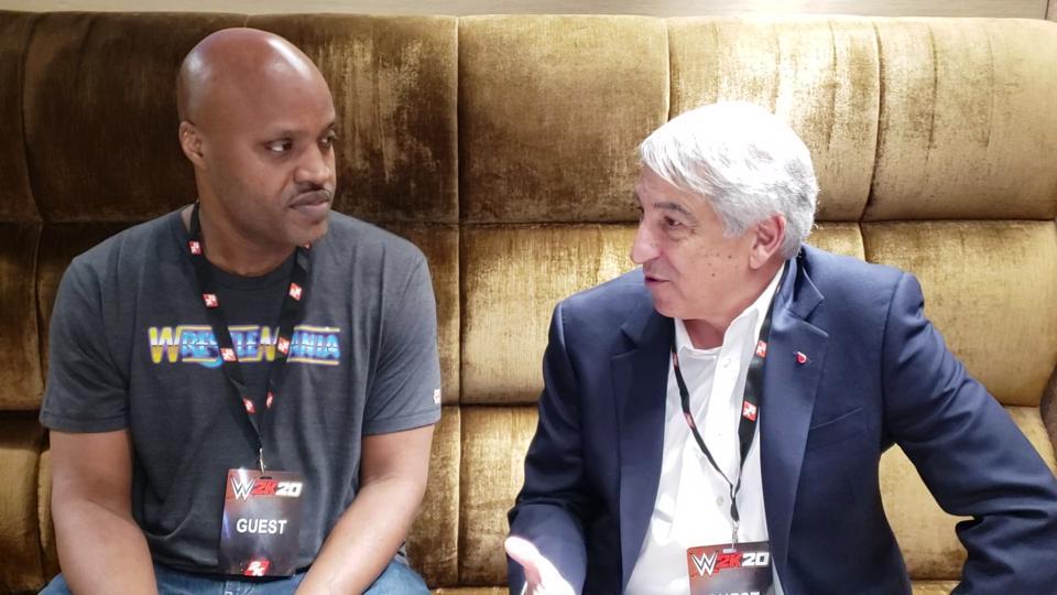 Brian Mazique and LLS CEO Dr. Lou DeGenarro