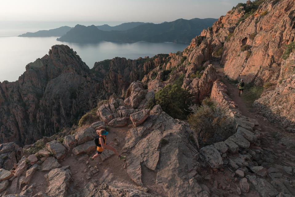 Trail running in Corsica