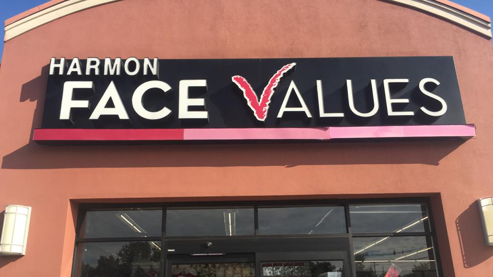The outside of a Harmon Face Values store in Paramus, N.J.