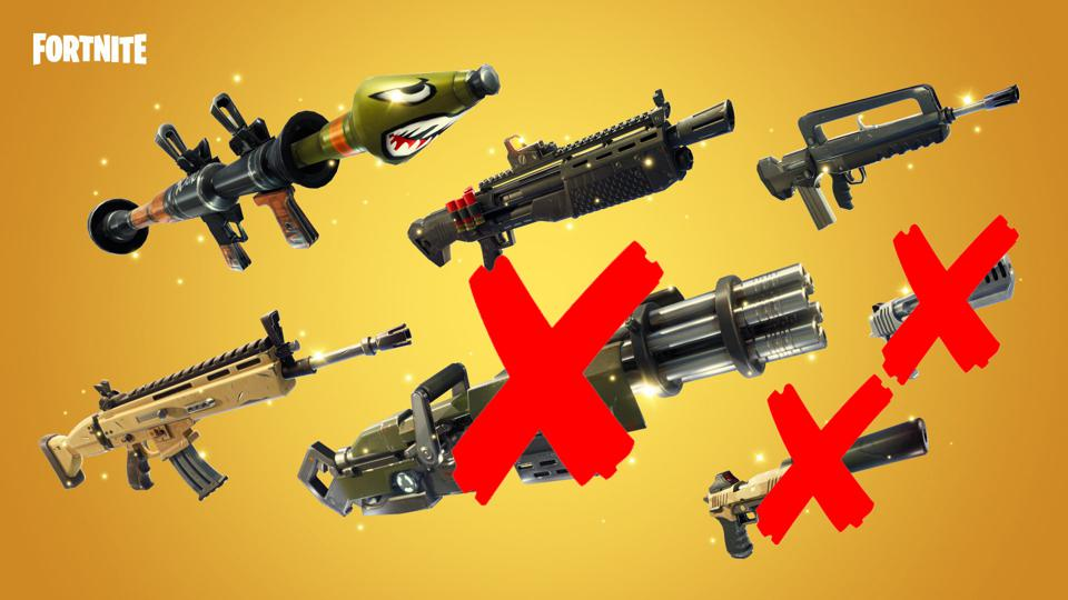 Here Are The 28 Weapons And Items Fortnite Vaulted For The
