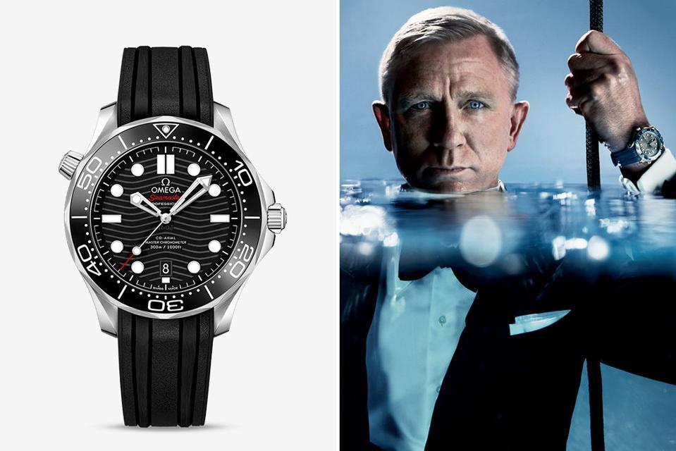 Daniel Craig with Omega Seamaster Diver 300M