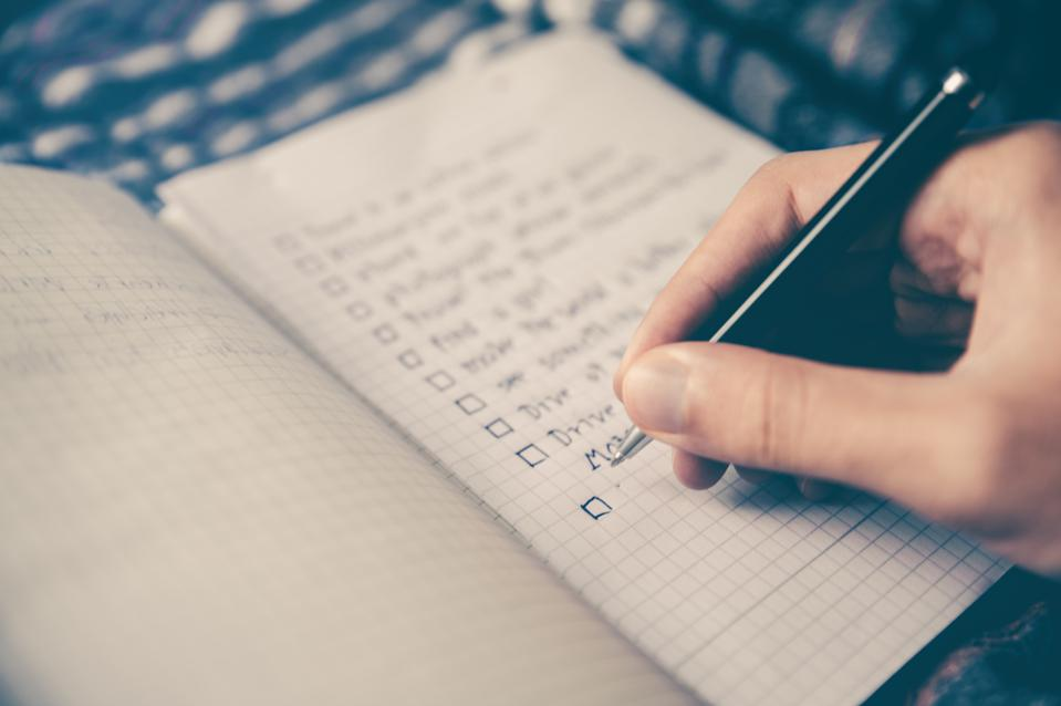 To-do lists can help boost productivity