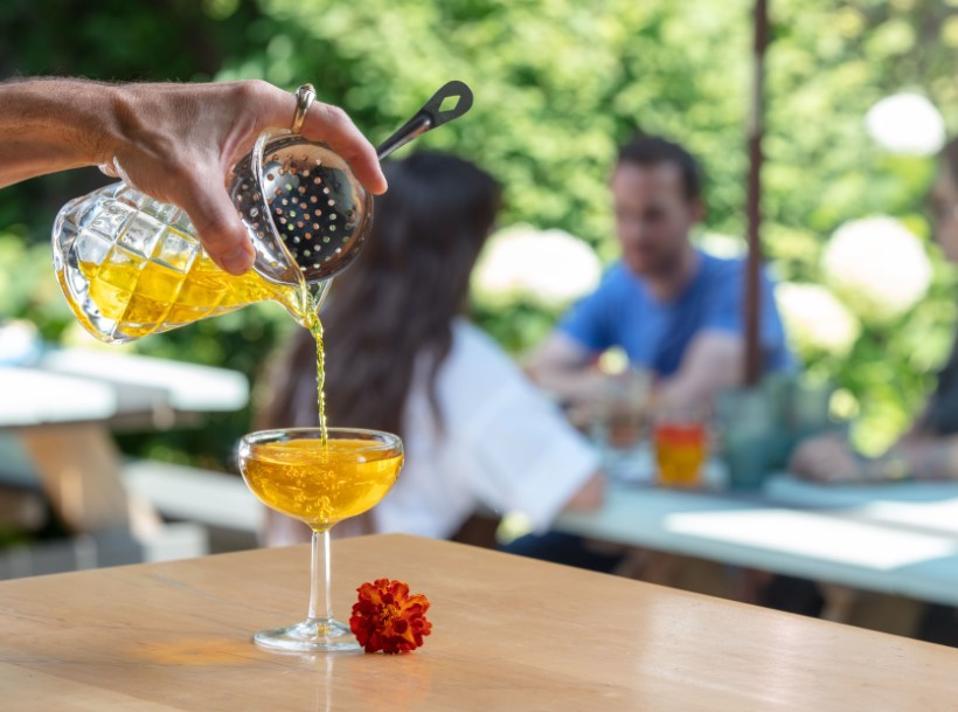 Saffroen cocktail