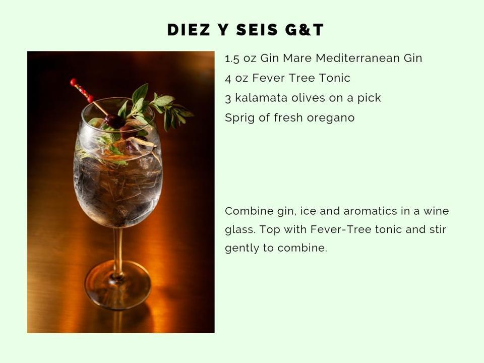 The Diez y Seis gin & tonic by Gui Jaroschy, Shore Club.