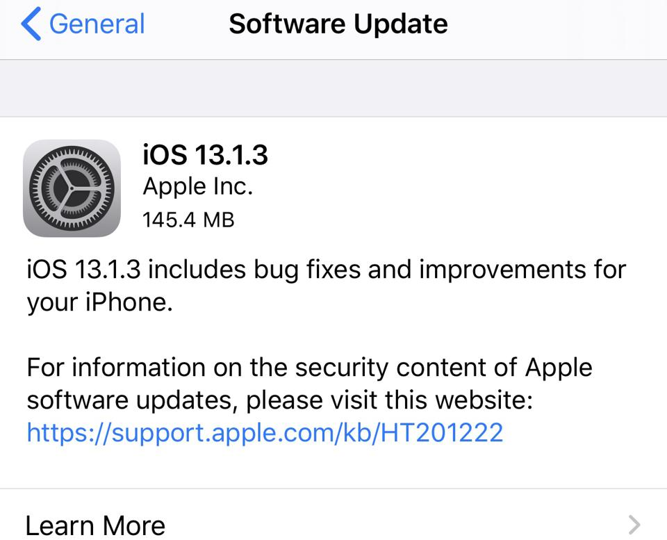 Apple Releases iOS 13.1.3: Surprise Update With Vital Features