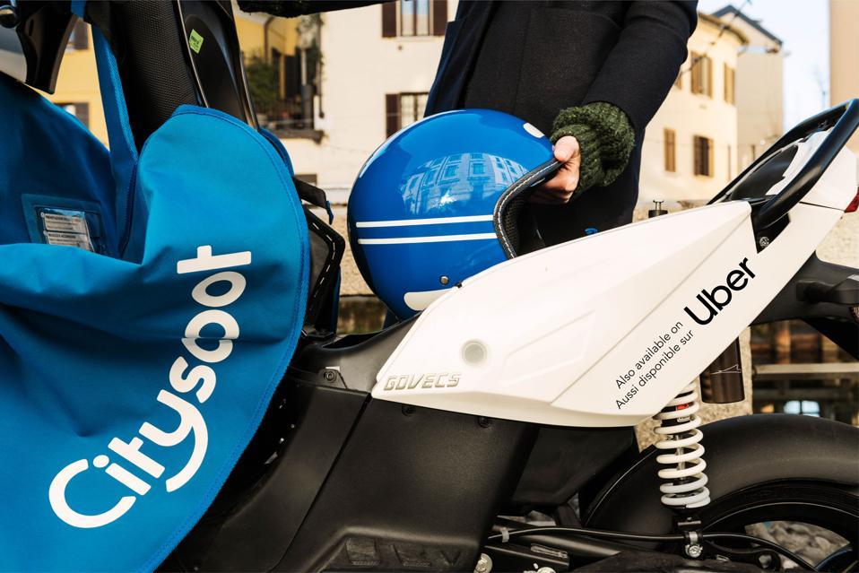 Uber Cityscoot mopeds in Paris