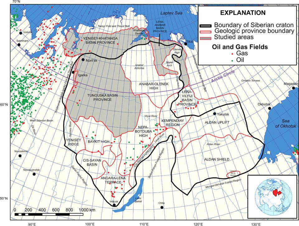 Russia's Arctic oil and gas fields