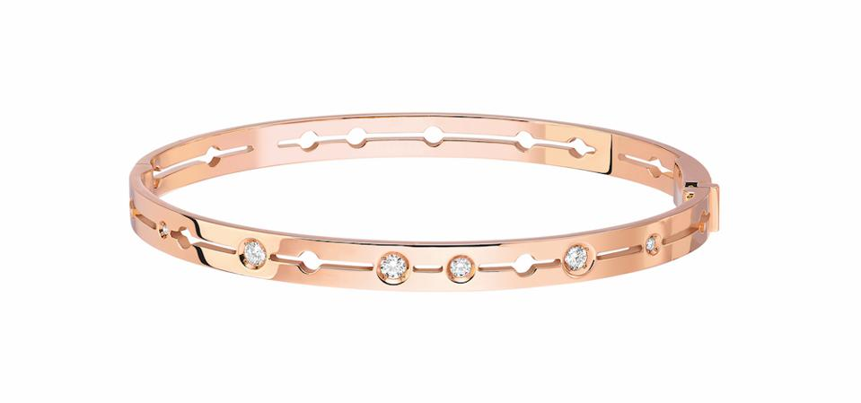 Pulse bangle by Dinh Van, rose gold and diamonds, €5,400