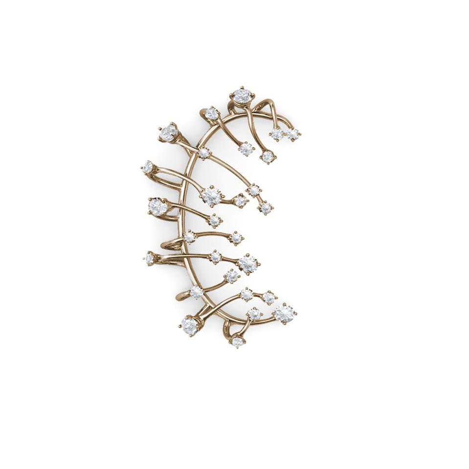 Constellation earcuff by Panconesi, in sterling silver and gold plate, available on Net-a-Porter from November.