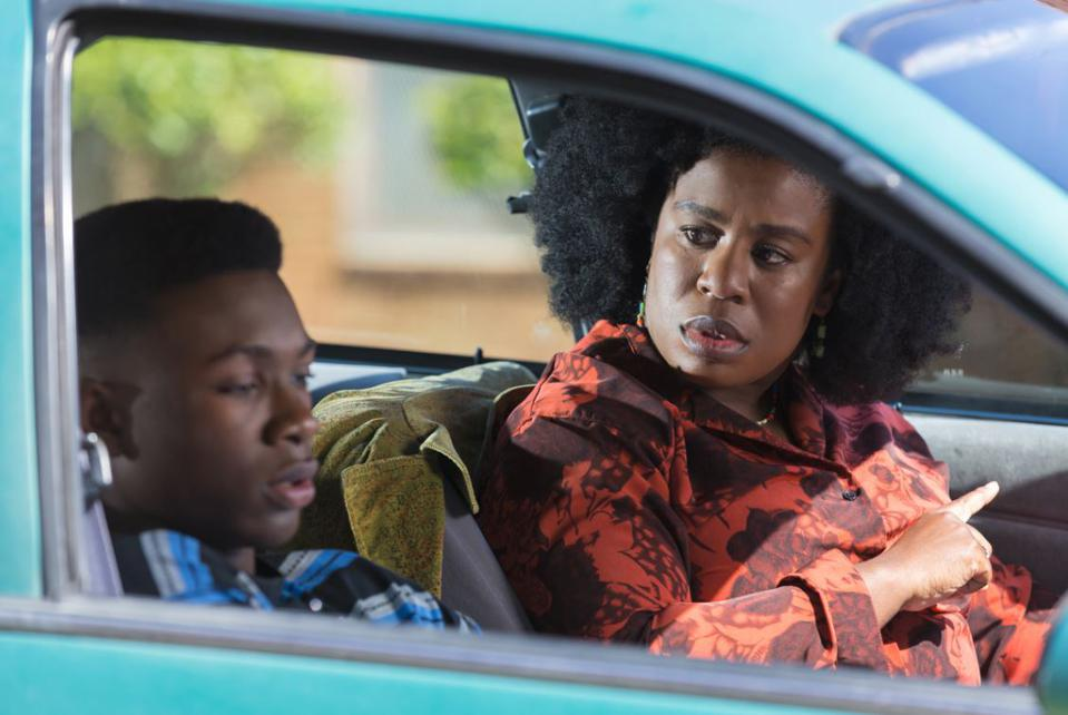 Niles Fitch as James and Uzo Aduba as Virginia Walden Ford in 'MISS VIRGINIA'