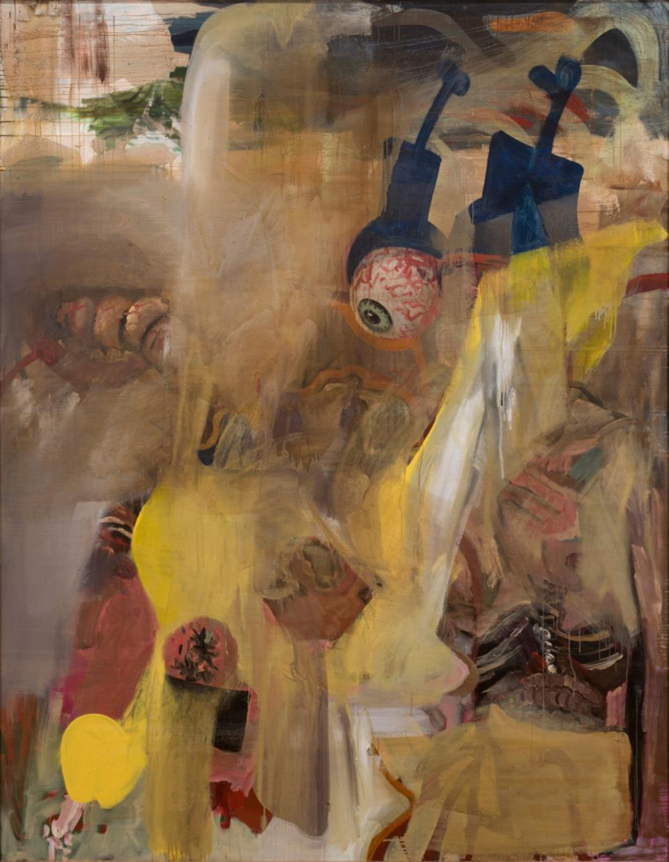 Albert Oehlen. 'Fn 33,' 1990, oil on canvas.
