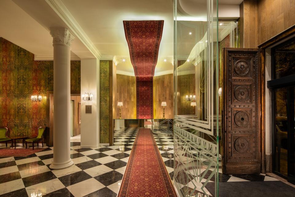 Mystery Hotel lobby