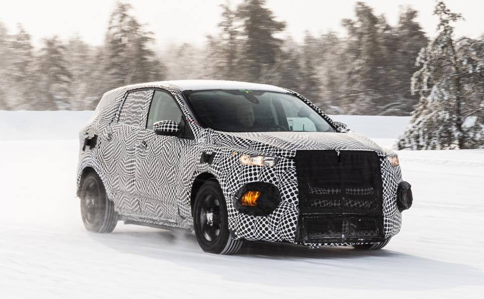 Ford's new Mustang-inspired electric SUV undergoing winter testing