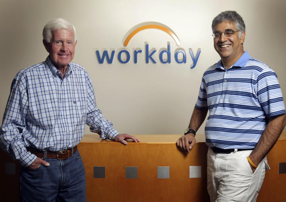 Workday Co-CEOs Aneel Bushri & Dave Duffield, PeopleSoft Founder
