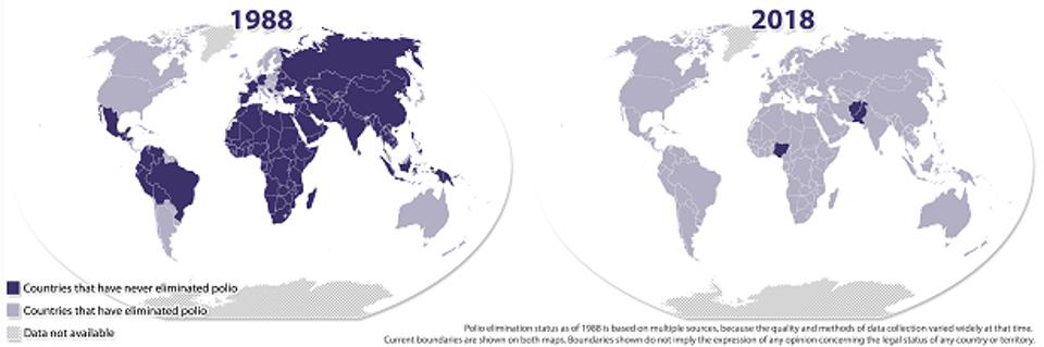 endemic polio map