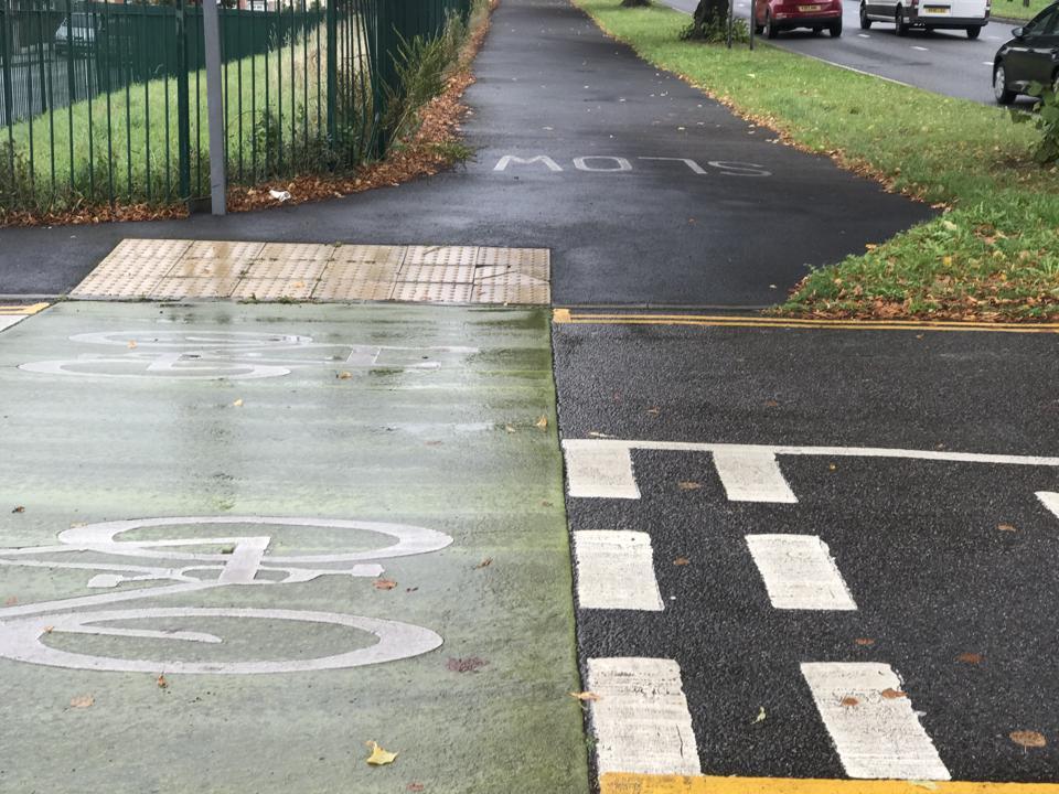 Cycleway crossing.