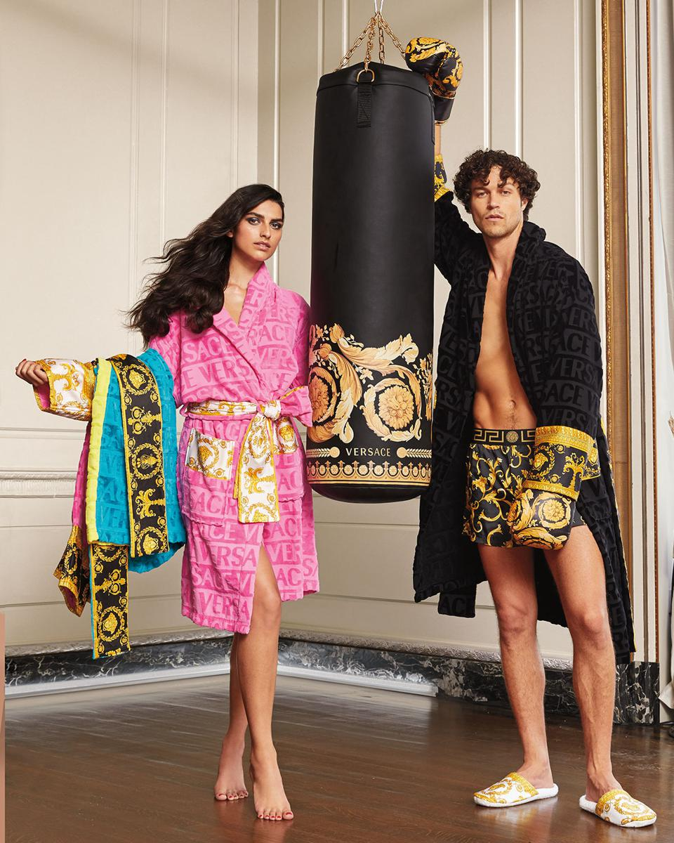 Versace punching bag, gloves and accessories