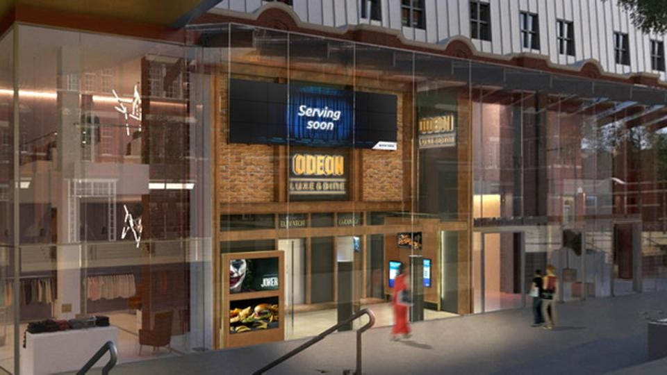 Artist's impression of the new Odeon Dine & Luxe cinema in Islington Square, London