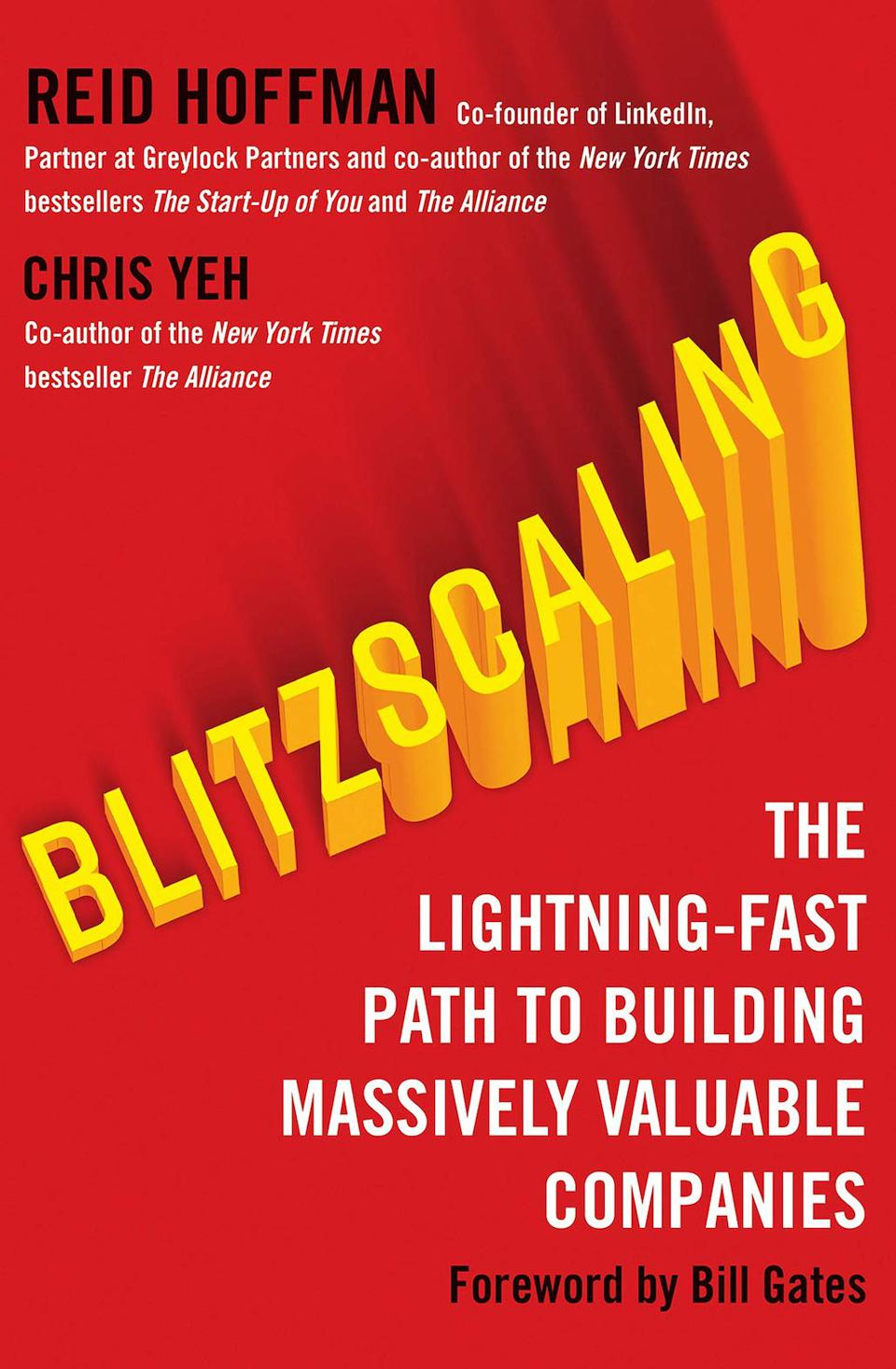 Blitzscaling: The Lightning-Fast Path to Building Massively Valuable Companies by Reid Hoffman and Chris Yeh