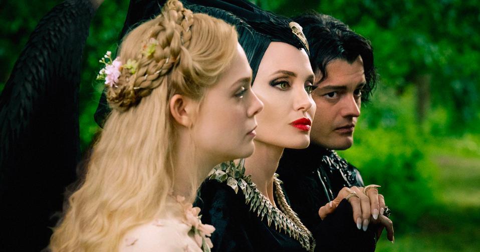 Elle Fanning, Angelina Jolie, and Sam Riley star in Disney's ″Maleficent: Mistress of Evil″