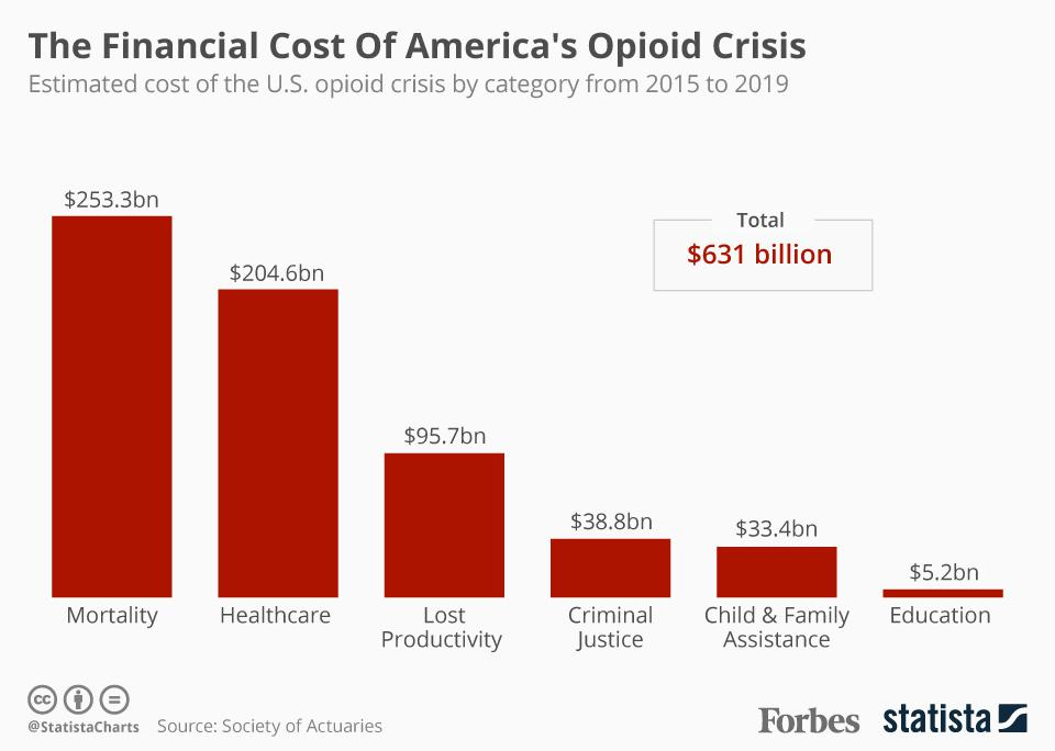 The Financial Cost Of America's Opioid Crisis [Infographic]