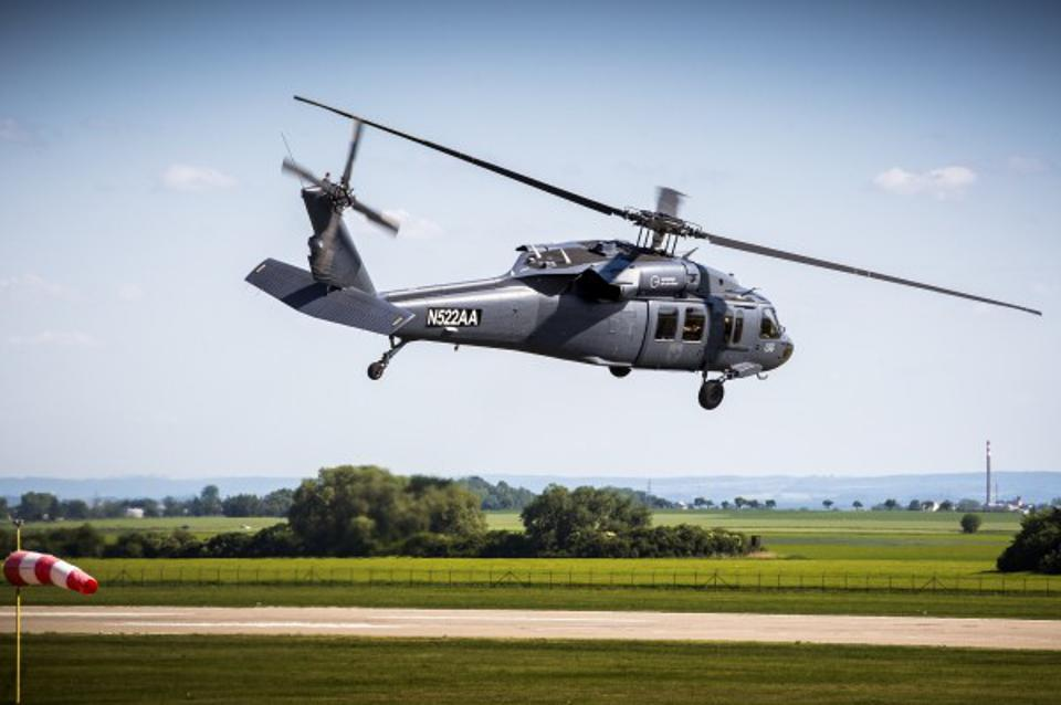 One of CSG's two Black Hawk choppers