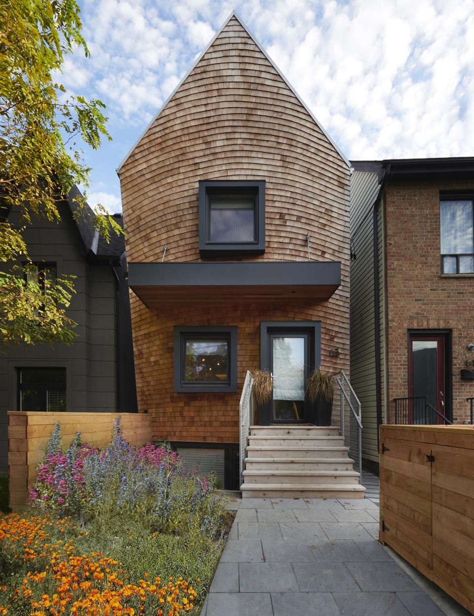 This 1200 square foot house suits a family well in Toronto, Canada, built very energy efficiently and sustainably.