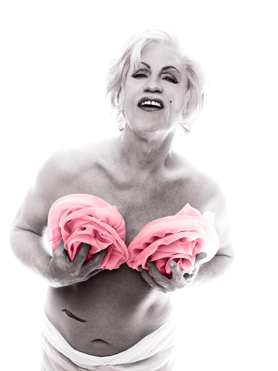 Sandro Miller after Bert Stern, Marilyn in Pink Roses (from The Last Session, 1962), 2014.